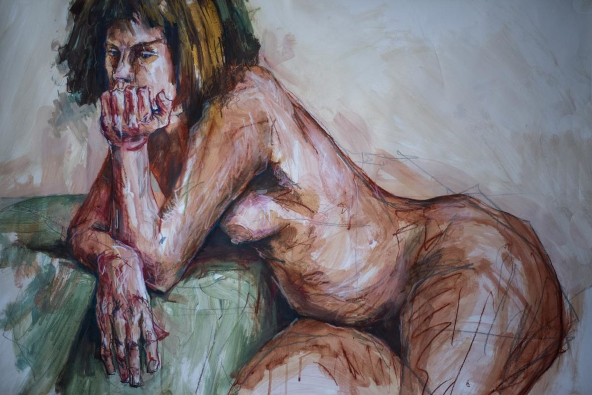 Amélie, acrylique, 2019, 110x75