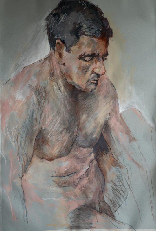 Iorgu, acrylique, 2019, 110x73