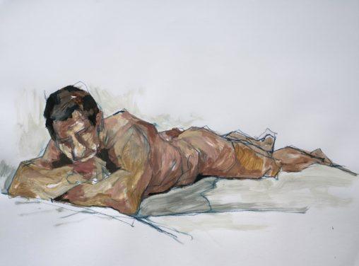 Iorgu, acrylique, 2019, 65x50