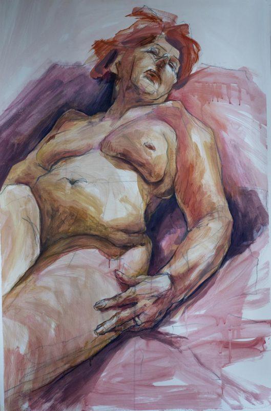 Marie-Claire,acrylique, 2019, 110x73