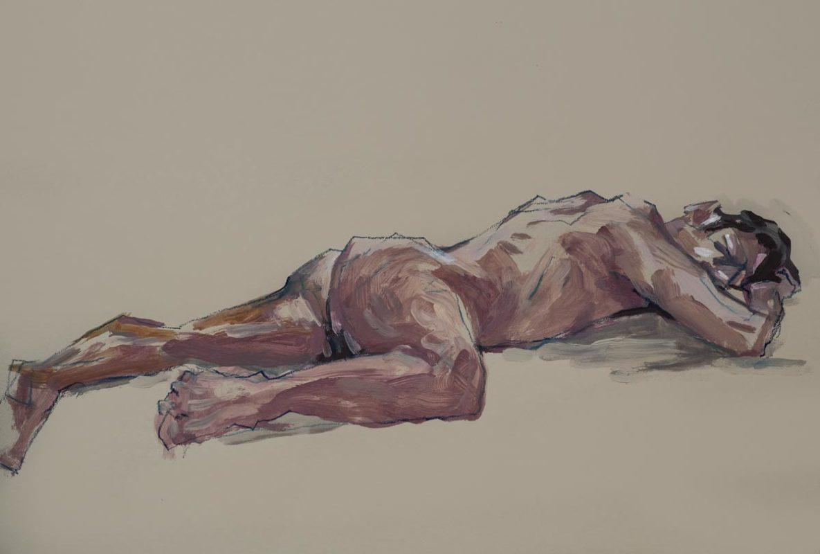 Sébastien, acrylique, a2, 2019