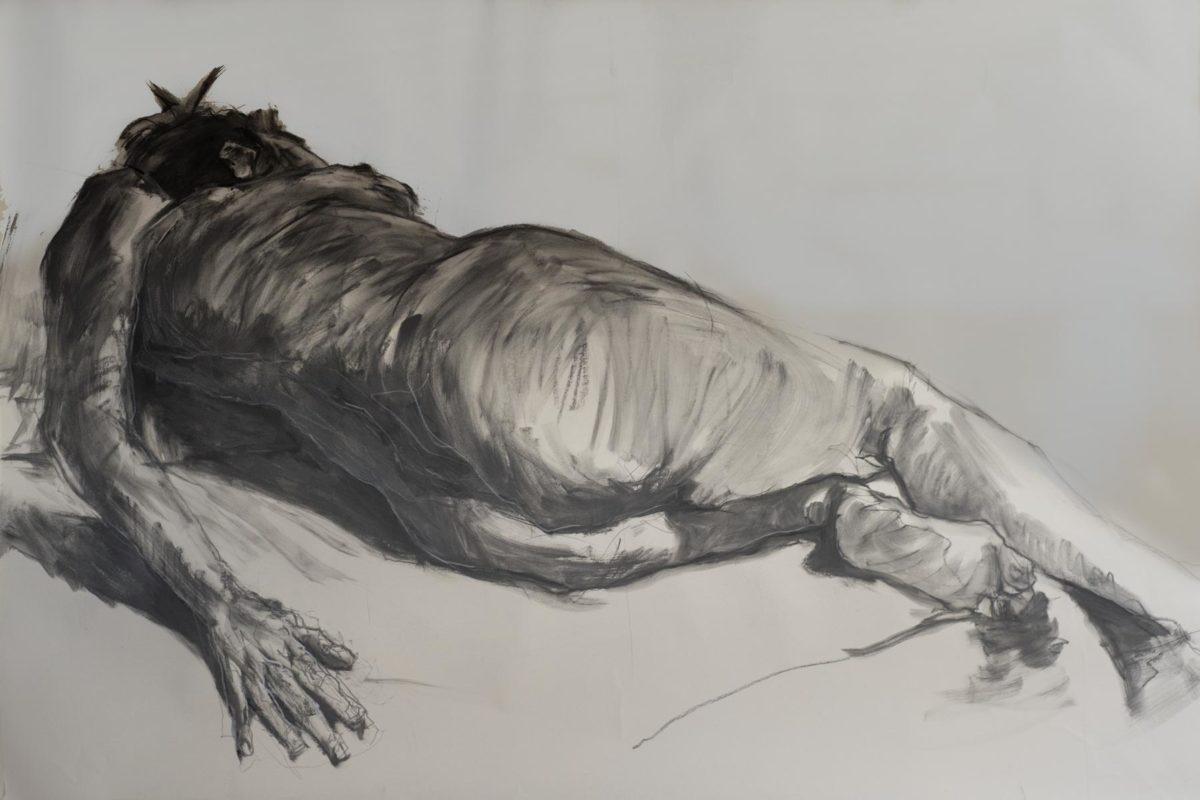 Valérie, graphite, 2019, 150x100