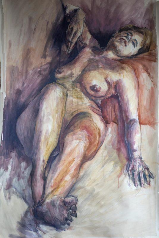 Valérie, acrylique, 2019, 150x100