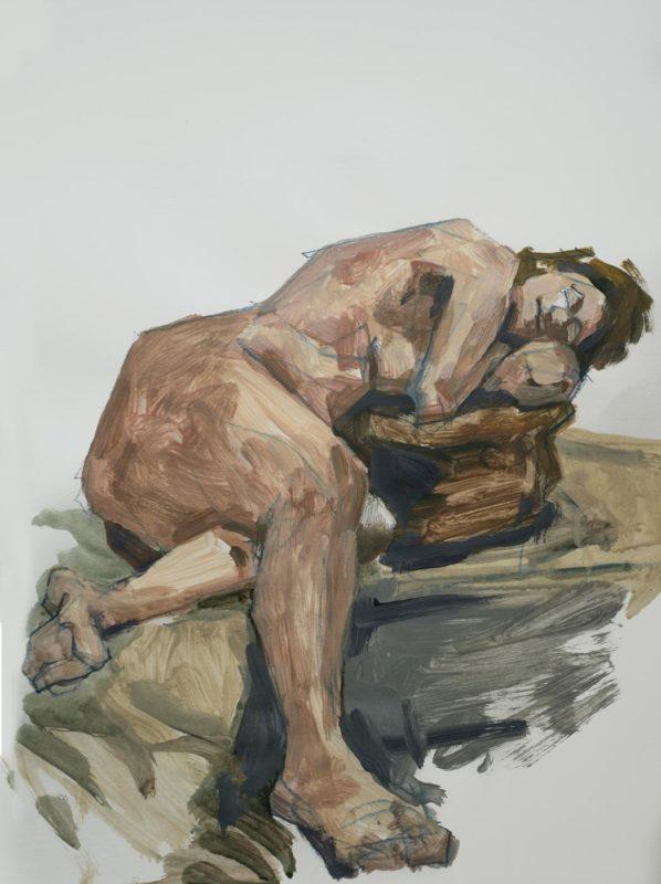 Valérie, acrylique, 65x50, 2018