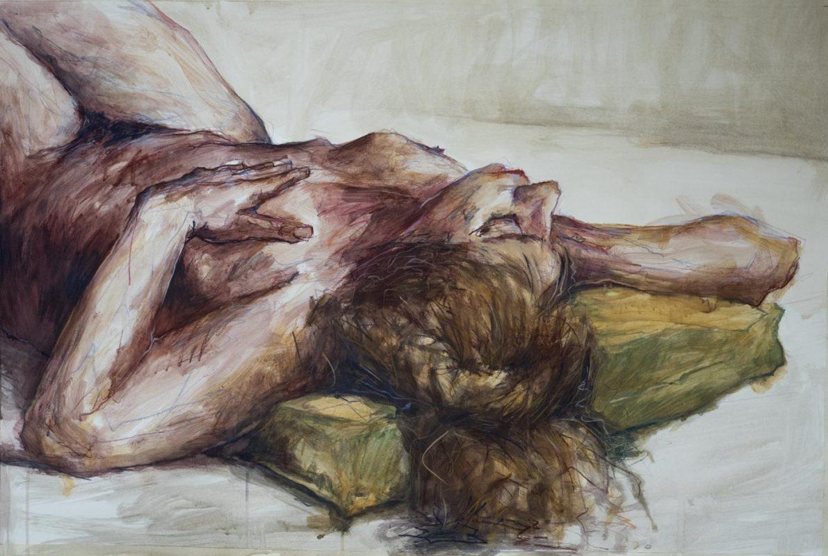 Valérie, acrylique, 2019, 110x73