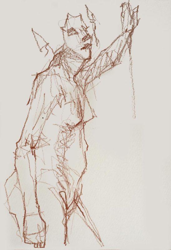 Amélie, crayons, A3, 2019