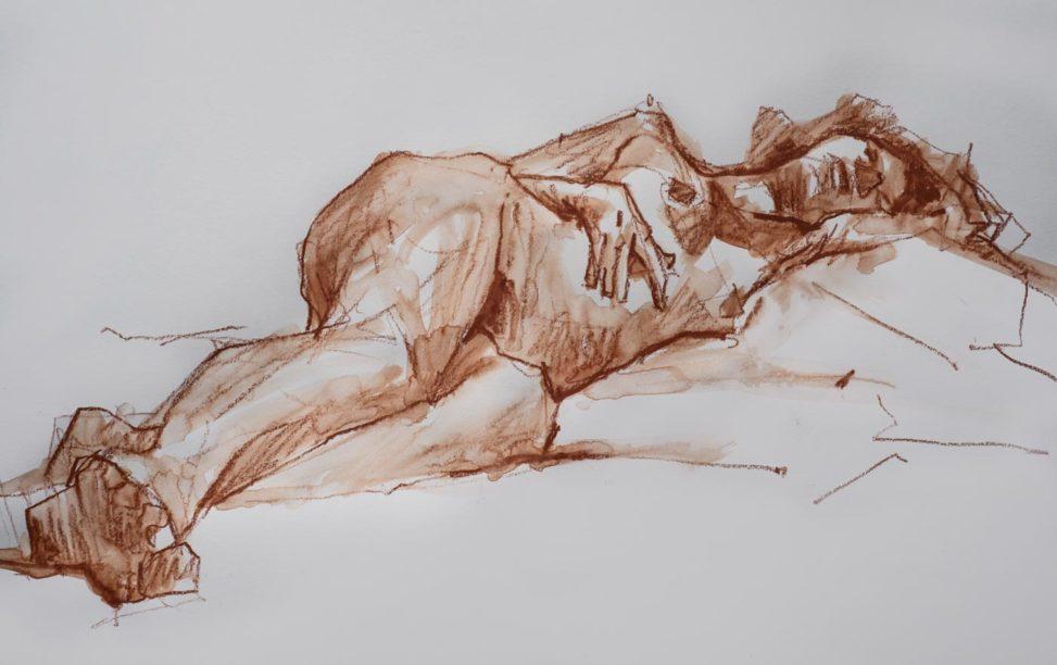 Amélie, crayons, a2, 2019