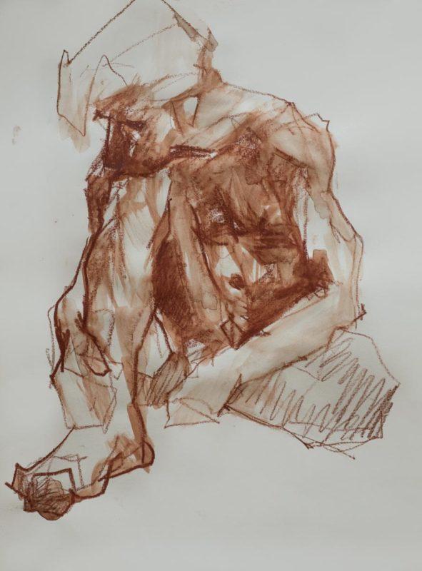 Sébastien, crayons, a3, 2019
