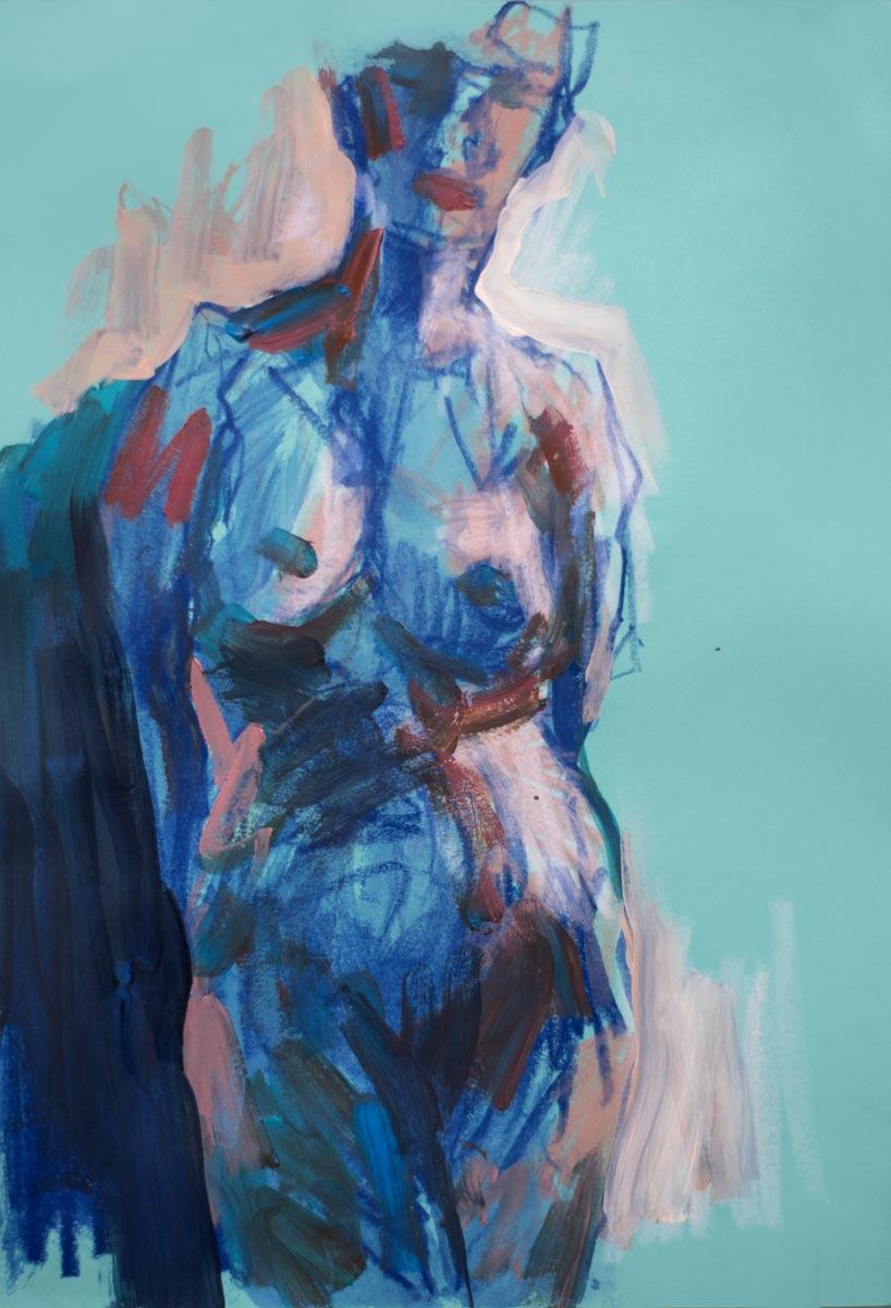 Croquis, papier couleur, A4, 2020 (Michel Titeux)