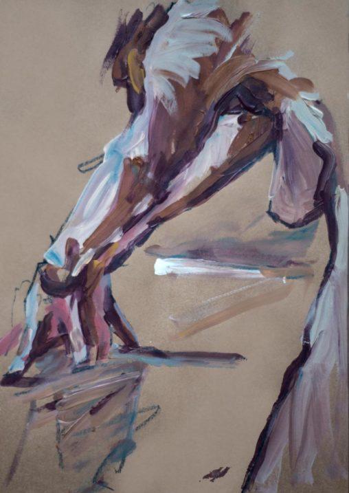 Croquis, papier brun, A4, 2020 (Michel Titeux)