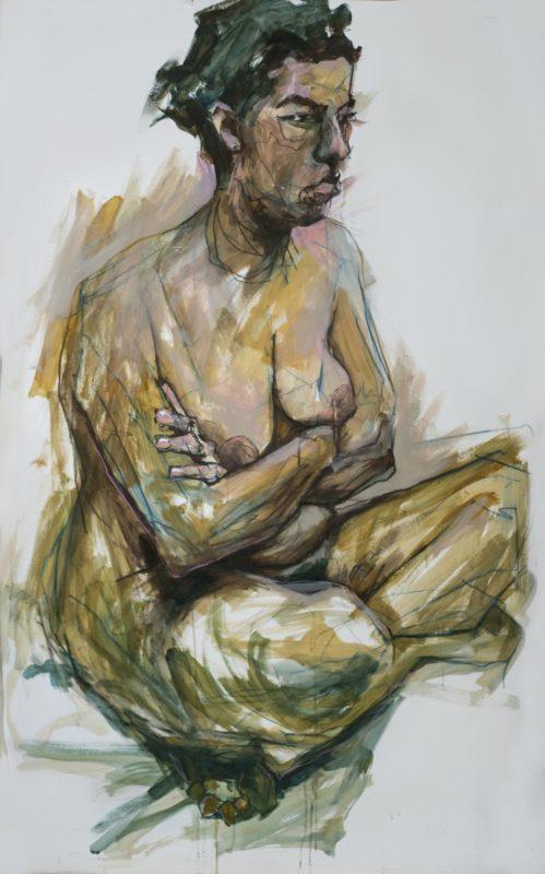 Nora, acrylique, 150x10, 2019
