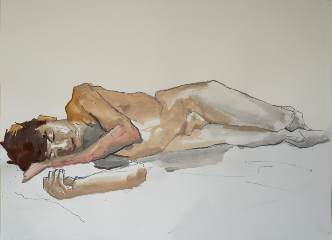 Sébastien, gouache, a2, 2018