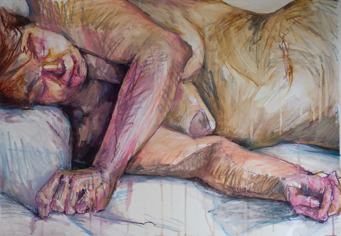 Michel Titeux, Pastel & acrylique, Valérie, 100x70, 2020