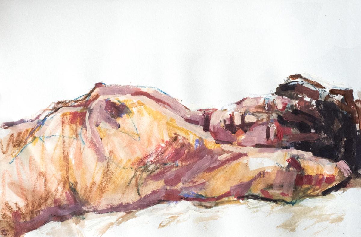 Pastel-Acrylique, Angelica, A3, 2020
