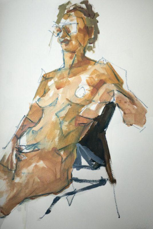 Michel Titeux, Daphne, pastel & acrylique, A3, 2020