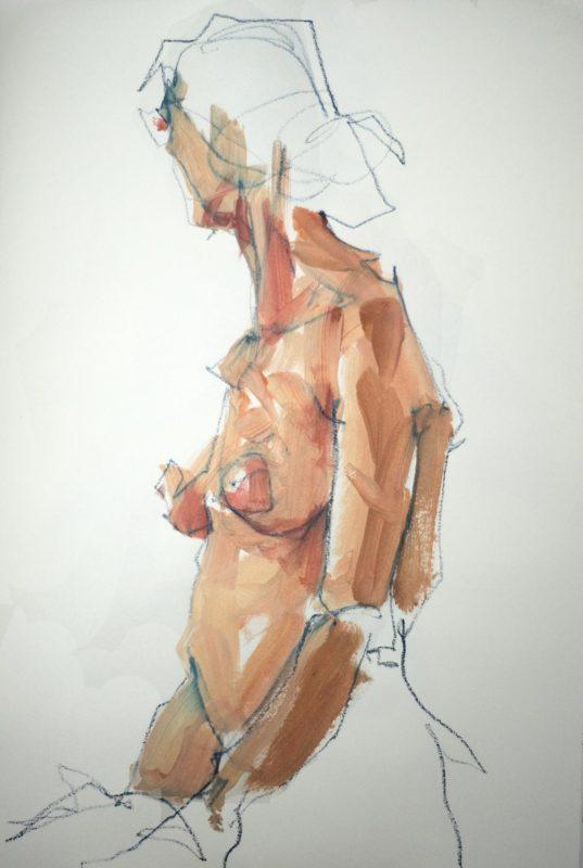Michel Titeux, Pastel et Acrylique, Daphné, A3, 2020