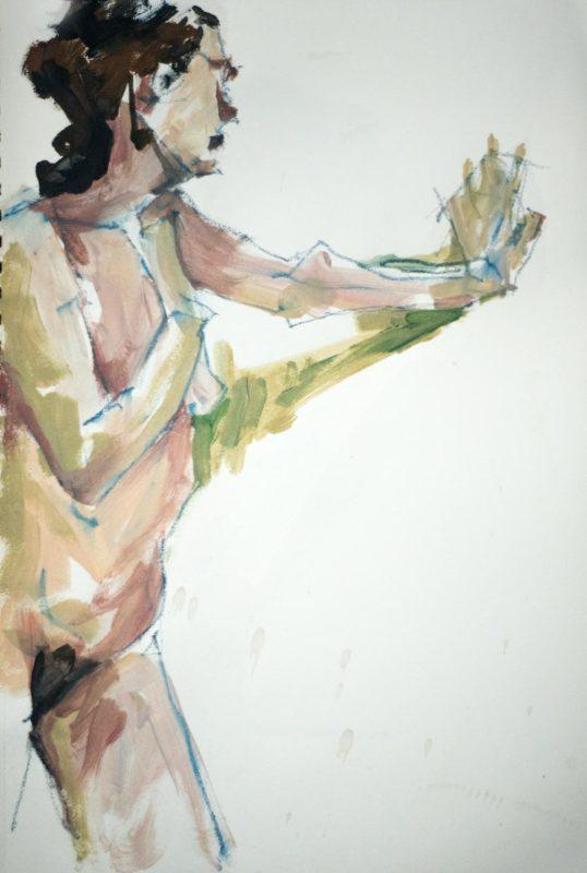 Michel Titeux, Pastel et Acrylique, Ségolène, A3, 2020