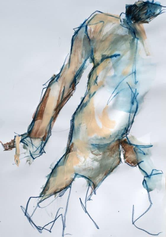 Pastel-Acrylique, Jean, A3, 2020