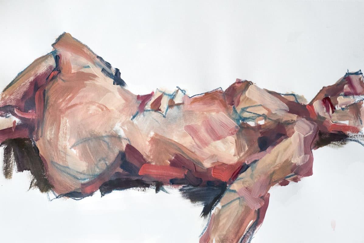 Pastel-Acrylique, Joelle, A3, 2020