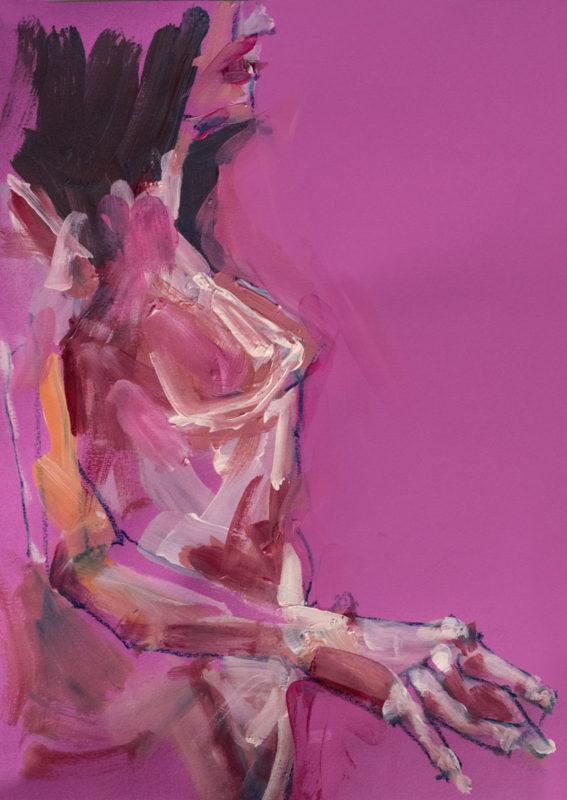 Pastel-Acrylique, Miranda, A3, 2020