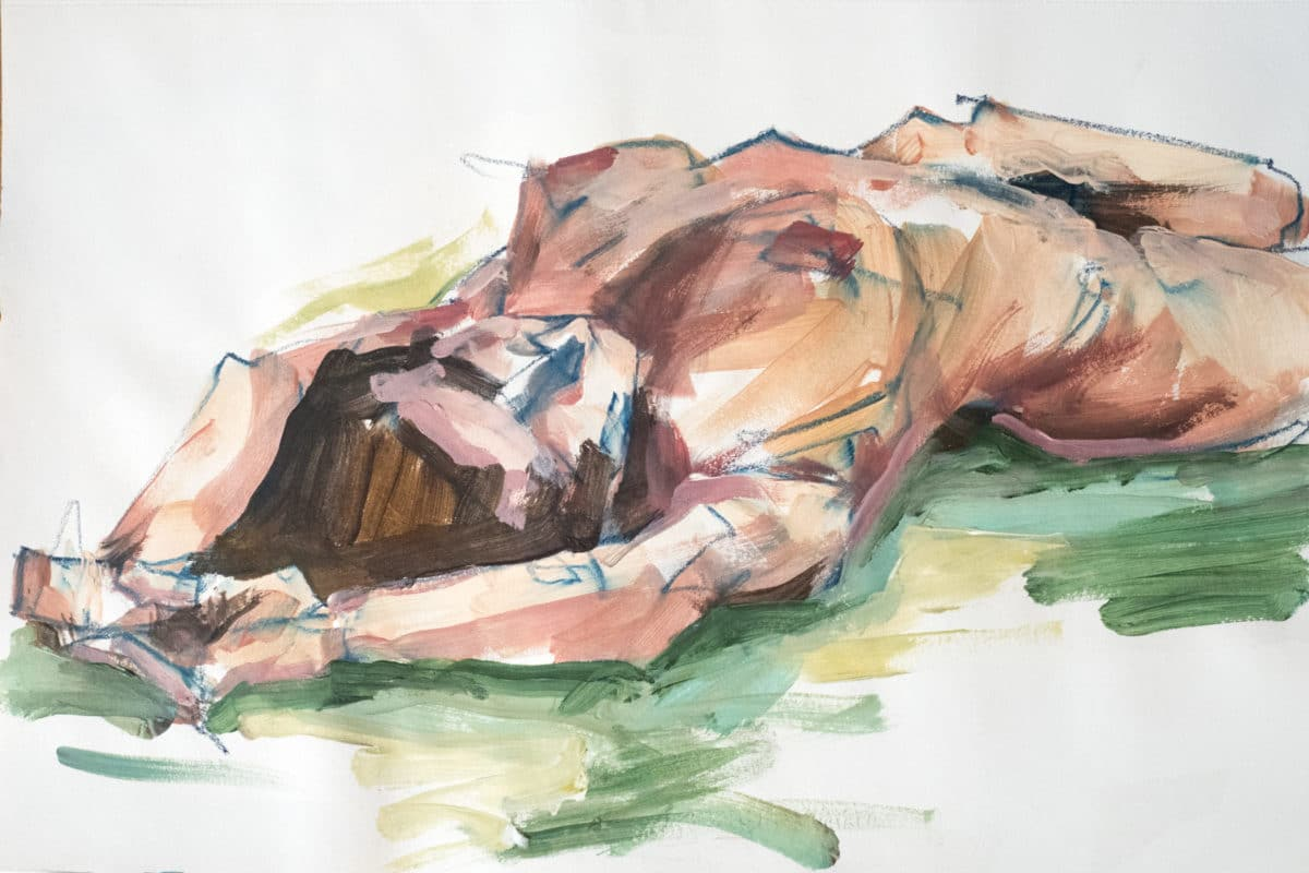 Pastel-Acrylique, Nikita, A3, 2020